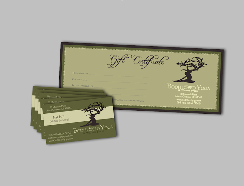 Graphic design portfolio art design studio of janna geary for Seed business cards