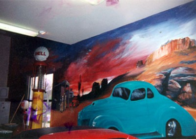 Mural in Carriage House