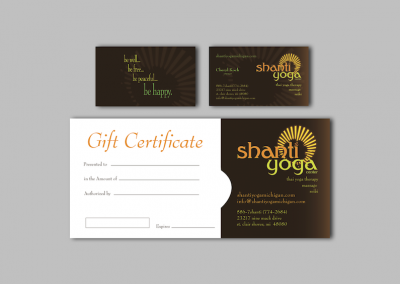 Business Cards & Gift Certificate