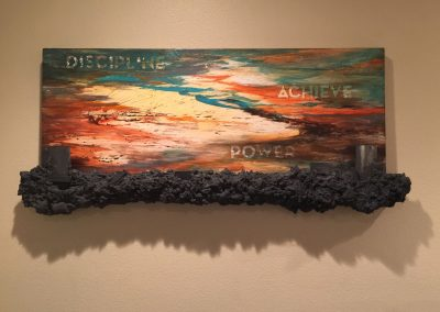 "$4500 ""Discipline"" Mixed Media on Panel - SOLD"